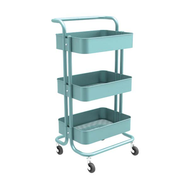 Carbon Steel Classic Multi-function Metal Trolley Cart-HS-002