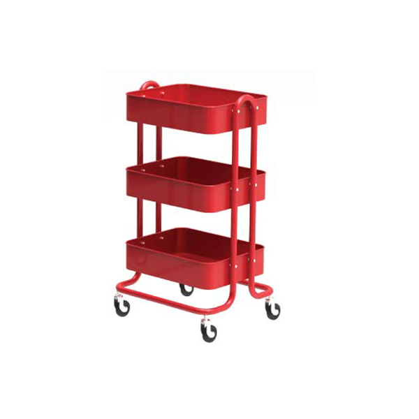 Steel Metal Kitchen Storage Trolley 3 Tier Rolling Cart-HS-003