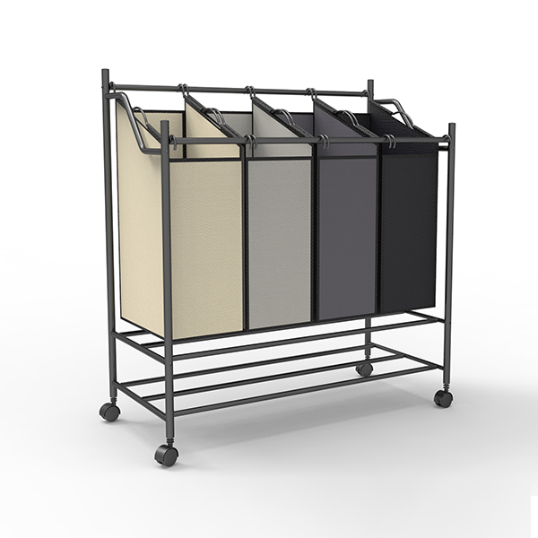 Laundry Sorter Cart With Wheels-HMZYL-01